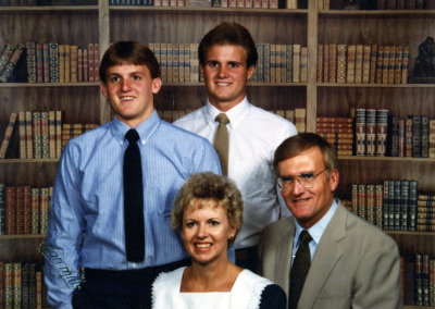 Clarence Kay Jensen and sons